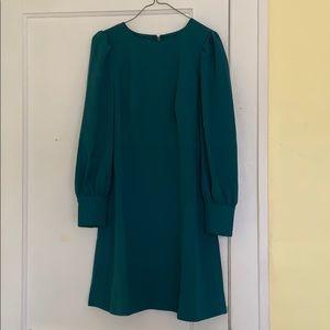 Green knee length J.Crew dress (size 2)
